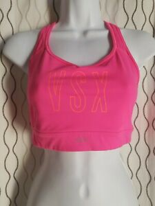 Victoria's Secret VSX Sport Racerback Sport Bra hot pink  fitness yoga Size M