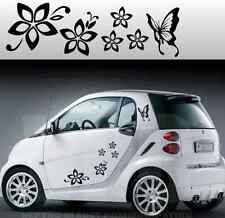 stickers adesivi adesivo tuning fiori farfallina farfalle auto smart mini vetri