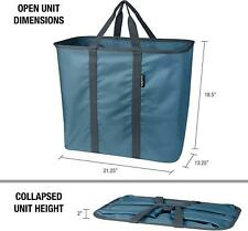 CleverMade Collapsible Laundry basket Caddy Tote XL with Handles Holds 55 lbs