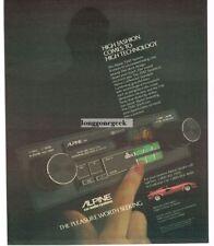 1983 ALPINE 7347 Car Stereo System Red LAMBORGHINI Vtg Print Ad