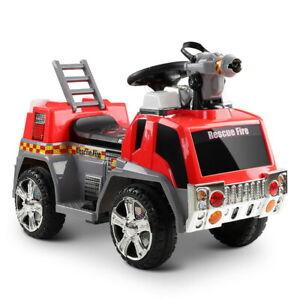 Rigo Kids Ride On Fire Truck Motorbike Motorcycle Car Red Grey