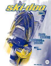 Ski-Doo parts manual catalog book 2002 MX Z 800 R