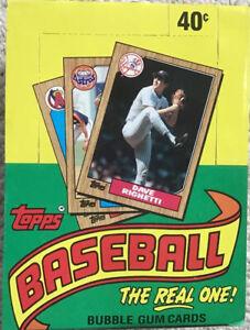 1987 Topps Baseball wax box (36 unopened packs)