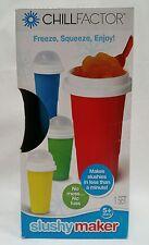 The Chill Factory Chill Factor Blue Instant Slush Slushy Maker Travel Mug Cup