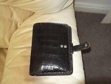 Mulberry Agenda Filofax in brown croc leather