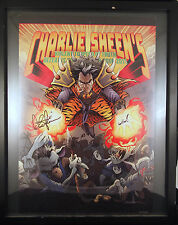Charlie Sheen Autographed Win! 13x19 Poster Violent Torpedo Truth Tour 2011 Rare