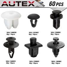 60x Bumper Fender Battery Clip Nut Retainer Kit for 1996-2004 Nissan Pathfinder
