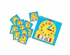 Teach time clock student set wipe clean Maths learning resources