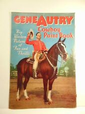 circa 1940 children's paint book cover- Gene Autry, Western cowboy- cover only