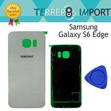 Tapa Trasera Bateria Cristal Repuesto Samsung Galaxy S6 Edge G925F Blanco