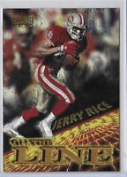 1996 Pinnacle Jerry Rice On The Line Insert SP No. 6 Of 15