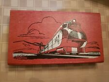 Train Streamline Vintage American Pencil Co. Folding Pencil Case Holder Box