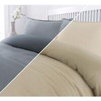 Luxury Soft Geo 200 Thread 100% Cotton Quilt Duvet Cover Bedding Set Grey Beige