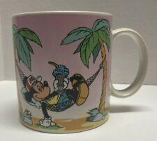 New listing Mickey Mouse In Hammock Ceramic Coffee Mug Disney Applause 1986 #3096
