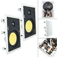 "6.5"" In Wall Home Theater Speaker 1"" Tweeter 90W 8 Ohm 2 Way DCM TP625W 2 Pack"