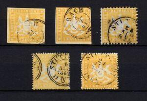 Germany wurtemberg 3k yellow selection. XF. H93
