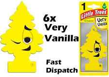 "MAGIC TREE ""LITTLE TREE"" VERY VANILLA FRAGRANCE CAR AIR FRESHENER PACK OF 6"