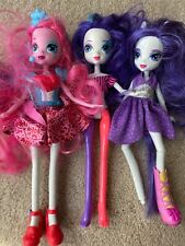 My Little Pony Equestria Girls Dolls Lot Of 3 Rarity Brushable Hair