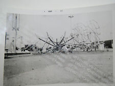 Carnival Rides Vintage Photo Midway Hennies Bros Old Snap Shot 60s Side Show B&W