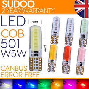 T10 Led 501 w5w Side Light White Bulbs Car Error Free Canbus Xenon Sidelight