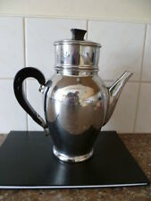 VINTAGE (c 1970s)  LARGE,  CHROME ON COPPER, 4 PIECE , FRENCH COFFEE  PERCOLATER