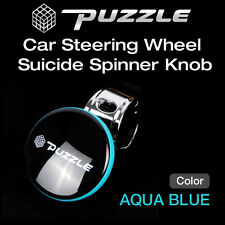 Puzzle Car Steering Wheel Suicide Spinner Knob Power Handle Aqua Blue 1ea