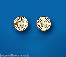 Gold Stud Earrings Gold Studs Diamond Cut Earrings Yellow Gold Stud Earrings 6mm