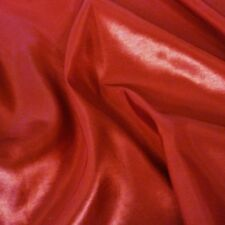 "Plain Red Silky Taffeta Fabric Weddings 60"" P/Metre"
