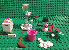 Lego Friends Snowman, Lamp Post, Letter Box, & Other Bits NEW