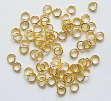 200  Gold Plated Jump Rings - 4mm