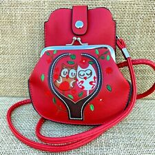 Red Owl Purse Small bag with Phone Spectacles  Holder Long & Short Straps