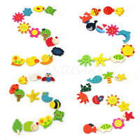 24 Pcs Set Baby Kids Wooden Cartoon Animal Fridge Magnet Child Educational Toys