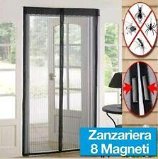 Zanzariera magnetica a tenda 120X240 cm per porte NERA riducibile con calamita