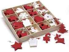 Decorazioni natalizie in feltro colorato da appendere in espositore 192 pz
