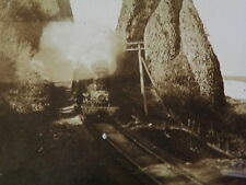 Pillars of Hercules, Columbia Railroad Track Train Steam Engine O.W. Watson Co