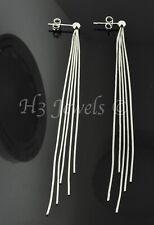 18k solid white gold dangling earring earrings tassle style 5.30 gram sexy #3305