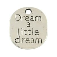 5 x Tibetan Silver Dream a Little Dream Pendant Charms