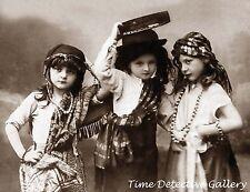Three Little Gypsy Girls - Historic Photo Print