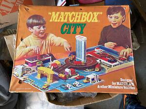 Vintage Matchbox City Playset Vinyl 1973 Carry Case Rare Collectible
