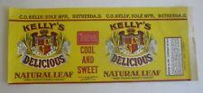 Old Vintage - Kelly's Delicious - CIGAR CAN LABEL - Bethesda OHIO