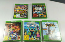 5x Xbox One Spiele Kinect Sports Rivals GTA V 5 Sonic Forces Trackmania Trials