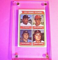1974 Topps #605 FRANK TANANA, Kobel, Albury, Frailing Rookie Pitchers ExMt Ex-Mt