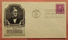 DR WHO 1940 FDC RALPH WALDO EMERSON AUTHOR ANDERSON CACHET 149818