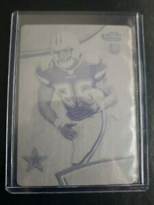 2011 Finest DeMarco Murray RC black printing plate Dallas Cowboys 1/1