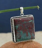 Picasso Jasper Gemstone Woman's Gift Pendant Solid 925 Sterling Silver Jewelry