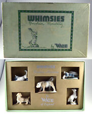 WADE WHIMSIES SET 2 ( 1954 WITH ORGINAL BOX, BULL, RABBIT, CAT, ETC