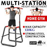 Free Stand Pull Up Dip Station Gym Bar Power Tower Chin Up Stand Workout USA