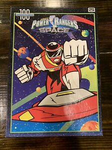 Vintage Power Rangers In Space 100 Piece Puzzle Rose Art 1998 Complete