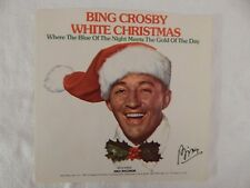 """BING CROSBY """"WHITE CHRISTMAS"""" PICTURE SLEEVE! NEW 1977 ISSUE!"""