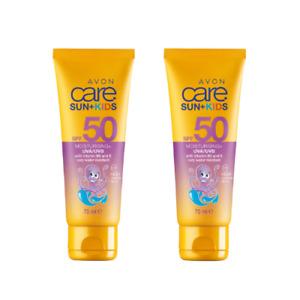 2 X Avon Multivitamin Kids' Sun Cream SPF50 - 75ml (Twin Pack)